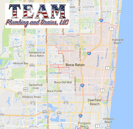 Map Of Florida Showing Boca Raton.Boca Raton Plumber Team Plumbing And Drains Llc