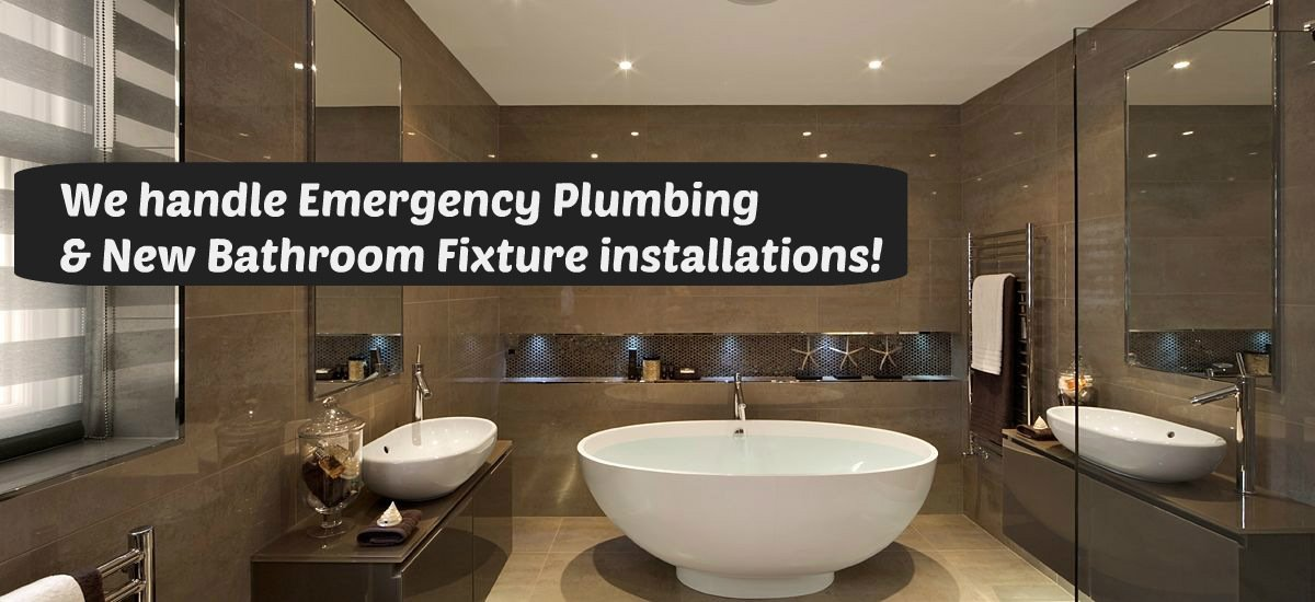 emergency plumbing and new bathroom fixture installations